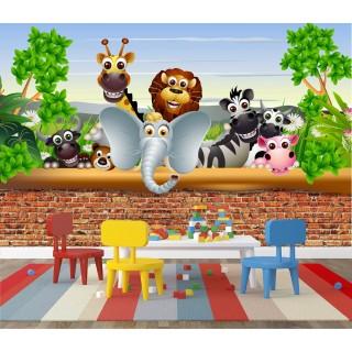 Animals Behind The Wall Wall Poster