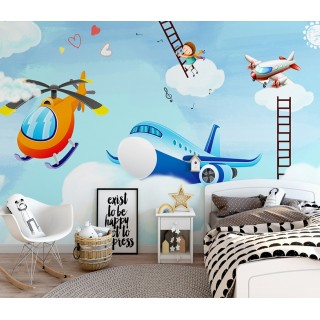 Kids Room on the Clouds Wallpaper