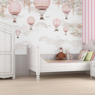Balloons Girl Room Wallpaper
