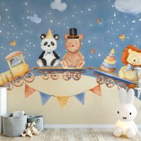Train Kids Room Wallpaper