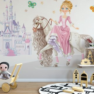 Princess Kids Room Wallpaper