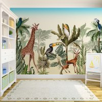 Safari African Animals Kids Room Wallpaper