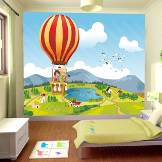 Balloon Travel Kids Room Wall Poster
