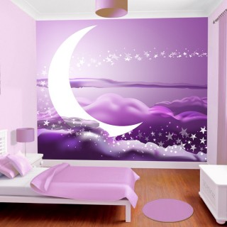 Kids Room Purple Funded Sky Wall Poster