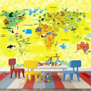 World Map for Kids Room 01