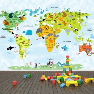 World Map for Kids Room 02
