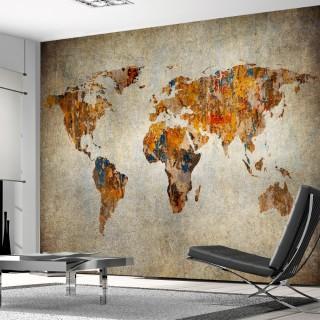 Custom Design Old Paint World Map