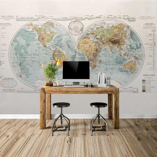 Custom Design World Map Wall Poster