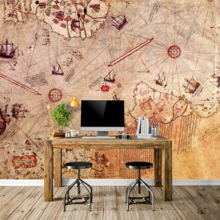 Piri Reis Map Wallpaper