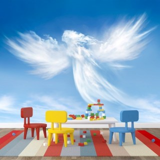 Guardian Angel Cloud Wall Poster