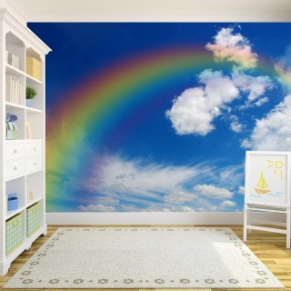 Rainbow in the Clouds Wallpaper