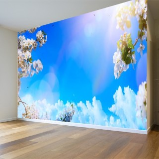 Sky Between Flowers Wall Poster