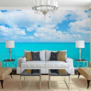 Harmony of White Sand and Turquoise Wall Poster