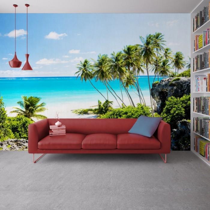 Bay Beach Barbados Wall Poster