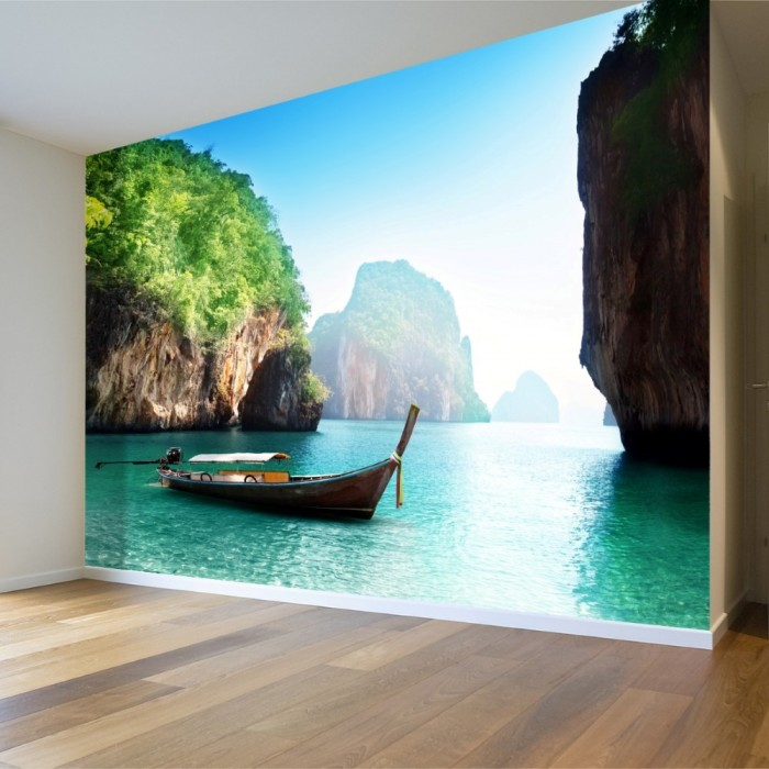 A Boat on the Island of Samui in Thailand Wall Poster