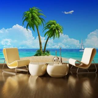 Palm Island Poster on Desert Island