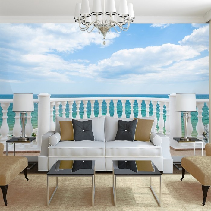 Beach View Wall Poster