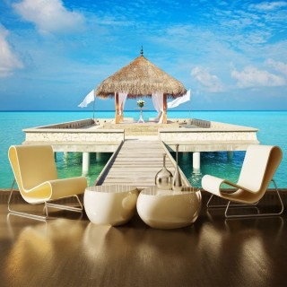 Maldives Island Hotels Wall Poster