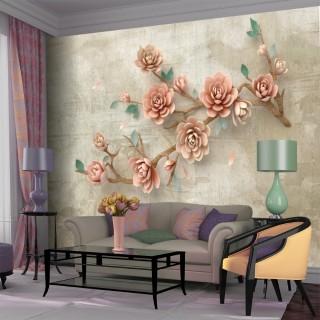 Elegant Flower Branch Wallpaper