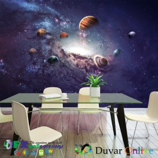 Planets 3D Wall Poster