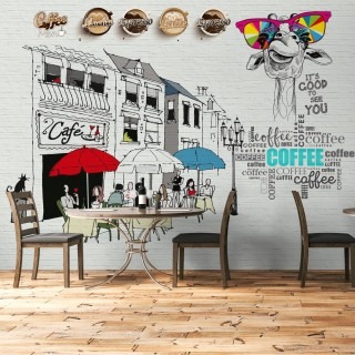 Cafe Wallpaper - Custom Design