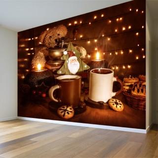 Coffee and Christmas Tree Wall Poster