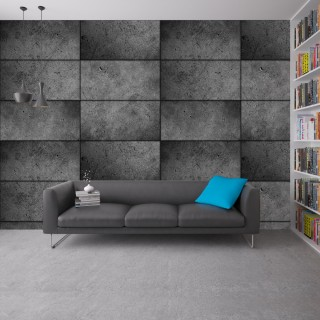 Abstract Concrete Wall Poster