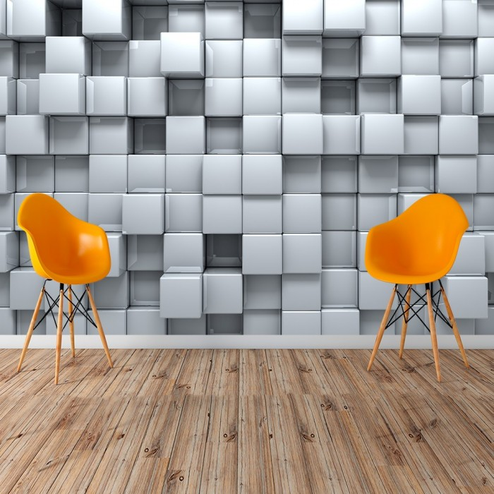 3D Boxes Wallpaper