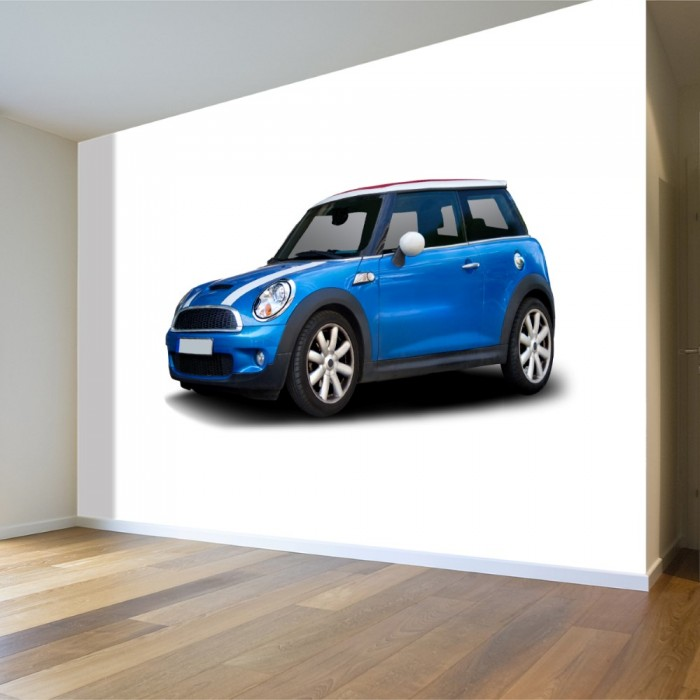 Blue Mini Cooper Wallpaper