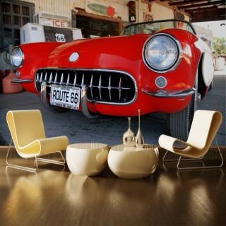 Classic Open Top Red Car Wallpaper