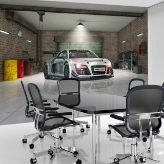 Car in the Garage - Audi Wall Mural
