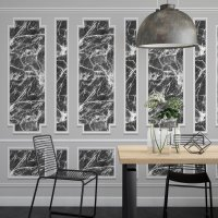 Marble and Frame 3D Wallpaper