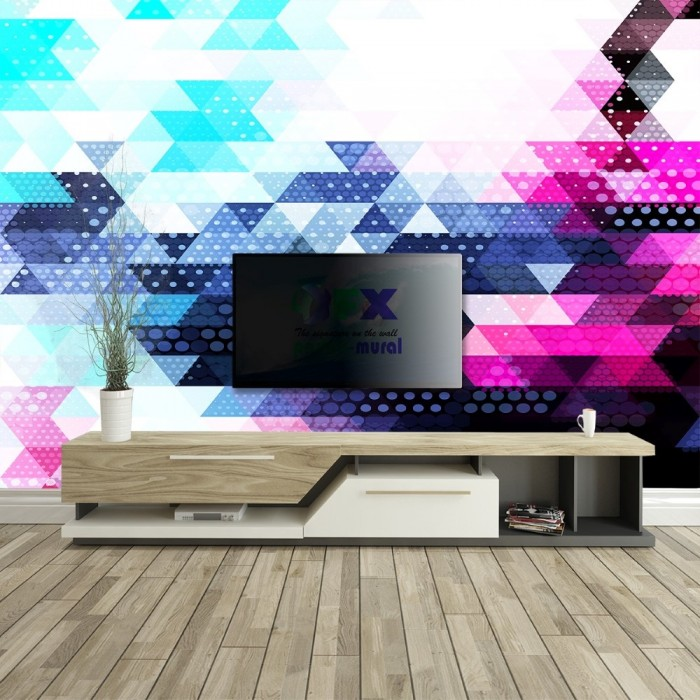 Colorful Geometric Wall Poster
