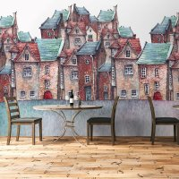 Cute Houses Wallpaper Large