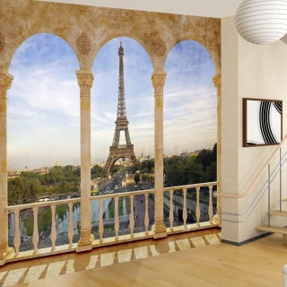Eiffel Tower from the balcony 3D Wall Poster